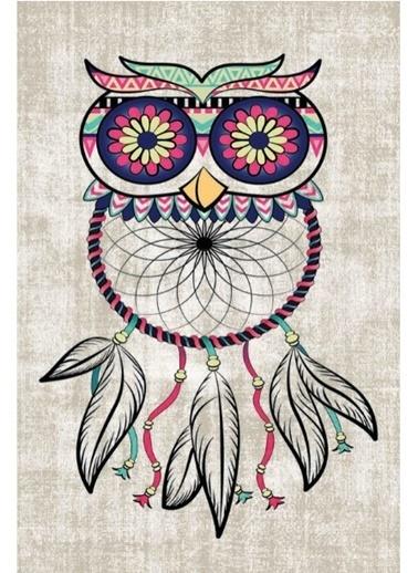 Soley Baykuş Djt. 40x60 Banyo Paspası Renkli